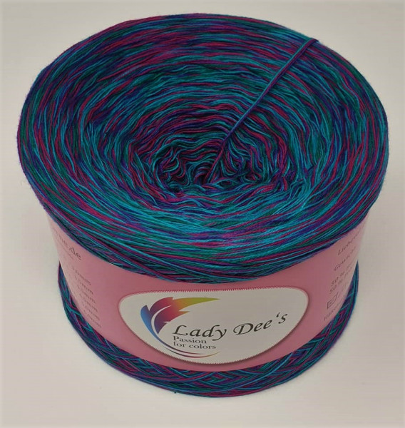 "Lady Dee's ""Moon Shadow 02"" ohne Farbverlauf 4fäd. 250g Bobbel Garn Lace"