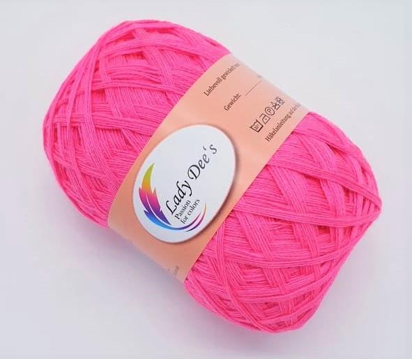 Lace Garn - Neon Pink-(134)