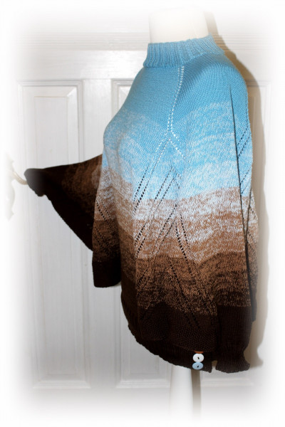 """Strickanleitung """"Nothing'n all"""" Poncho von Maike Ohlig"""