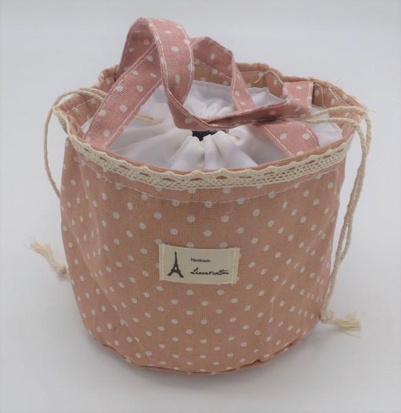 Utensilo - Bobbel Bag zum Zuschnüren - Rosé