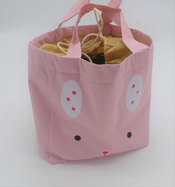 Utensilo - Bobbel Bag zum Zuschnüren - Rosa Katze