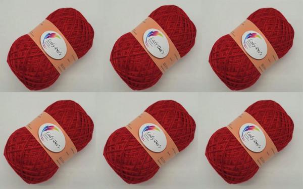 6 x Weihnachtsstern mit Salsa Red Glitzer (132) - 300g (Fädigkeit nach Wahl)