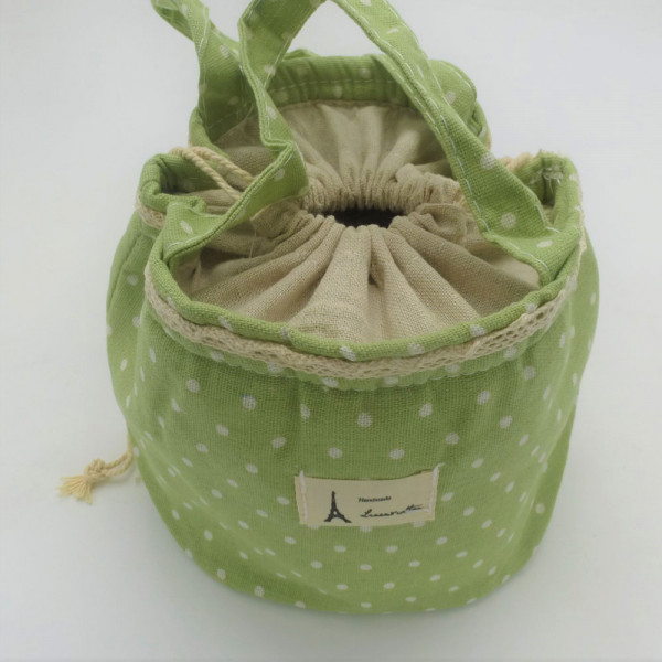 Utensilo - Bobbel Bag zum Zuschnüren - Lindgrün