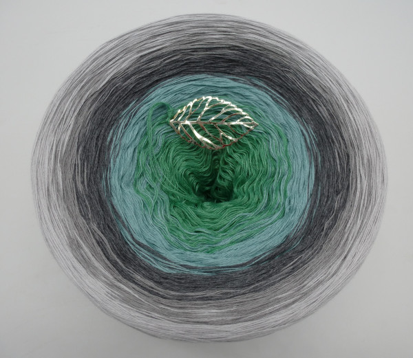 Silber küsst Jade - 250g - ca. 1000m