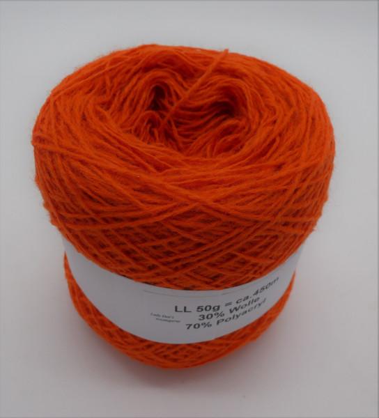Woll-Acryl-Gemisch - Orange - 50g - 450m