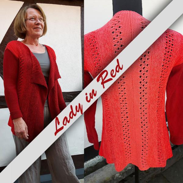 Strickanleitung Lady-in-Red von Ursula Deppe Krieger