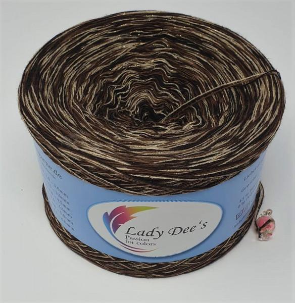 "Lady Dee's ""Moon Light 01"" ohne Farbverlauf 4fäd. 250g Bobbel Garn Lace"