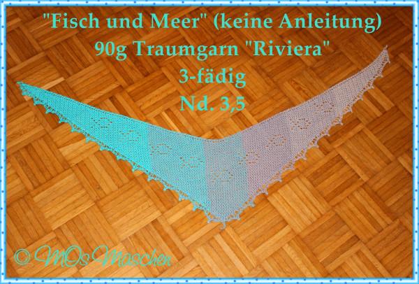 """Häkelanleitung """"Fisch und Meer"""" Tuch von Maike Ohlig"""