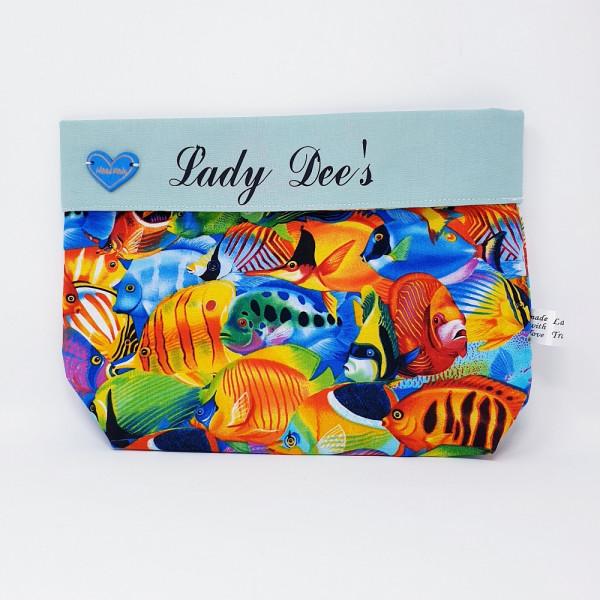 Bezauberndes Bobbel Bag (33-B) mit blauem Herz