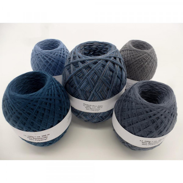 Megapaket Blue Jeans (5 Knäule) - 600g - (Z021-34-43-48-51)