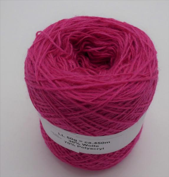 Woll-Acryl-Gemisch - Fuchsia - 50g - 450m