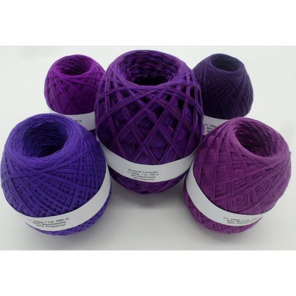 Megapaket Lavendel (5 Knäule) - 600g - (Z005-19-32-84-86)