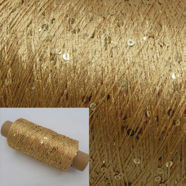 Pailletten Beilaufgarn Gold - 250m