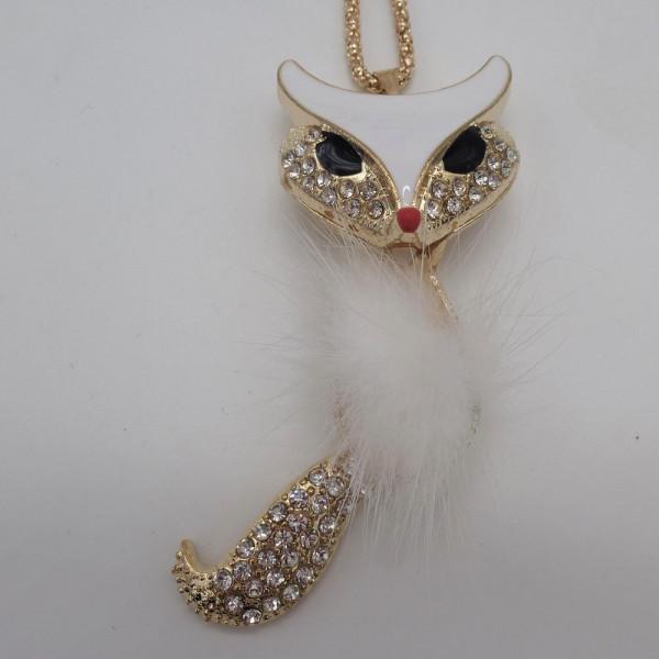 Lady Dee's Fuchs Kette (weiss)