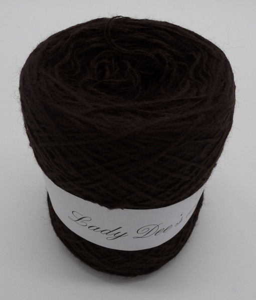 Woll-Acryl-Gemisch - Schoko - 50g - 450m