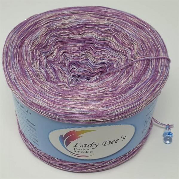 "Lady Dee's ""Moon Light 04"" ohne Farbverlauf 4fäd. 250g Bobbel Garn Lace"