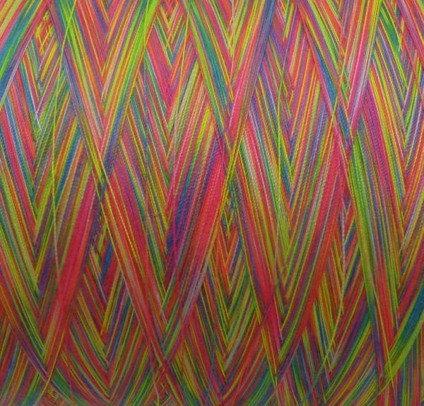 Zartes Regenbogen Beilaufgarn Multicolore1 - 2000m