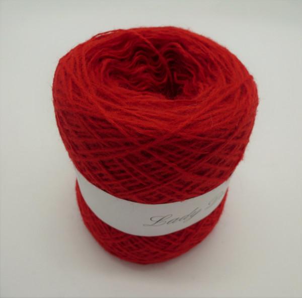 Woll-Acryl-Gemisch - Tomatenrot - 50g - 450m